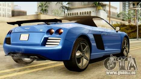GTA 5 Obey 9F Cabrio pour GTA San Andreas laissé vue