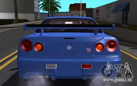 Nissan Skyline GT-R V Spec II 2002 für GTA San Andreas Innen