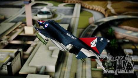 F4 Royal Air Force für GTA San Andreas zurück linke Ansicht