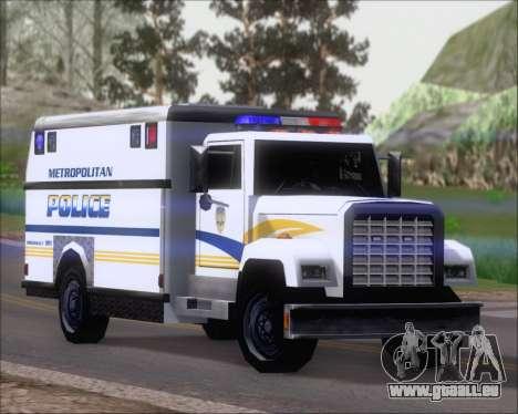 Enforcer Metropolitan Police für GTA San Andreas linke Ansicht
