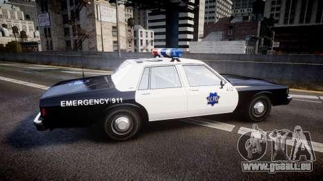 Chevrolet Impala 1985 LCPD [ELS] pour GTA 4 est une gauche