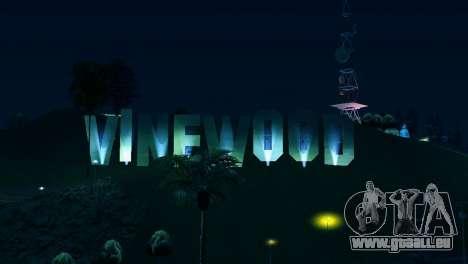 Rétro-éclairé étiquettes Vinewood pour GTA San Andreas