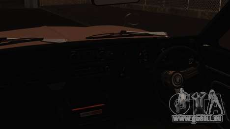 Nissan Skyline GC10 2KGT Shakotan für GTA San Andreas Rückansicht