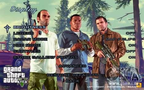 GTA 5 Menu pour GTA San Andreas cinquième écran