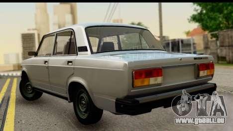 VAZ 2107 Flux pour GTA San Andreas laissé vue