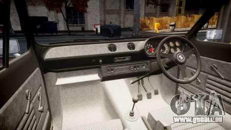Ford Escort RS1600 PJ28 pour GTA 4 est une vue de l'intérieur