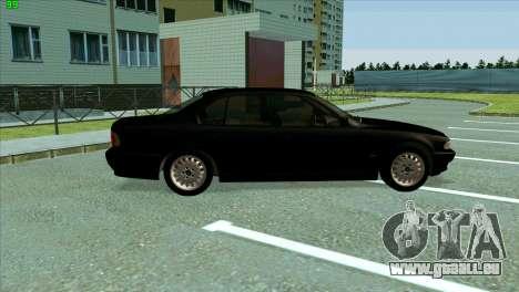 BMW 730i für GTA San Andreas Rückansicht