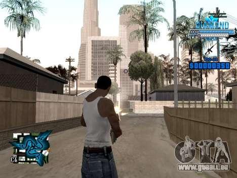 C-HUD Blek-Pro Diamond pour GTA San Andreas deuxième écran
