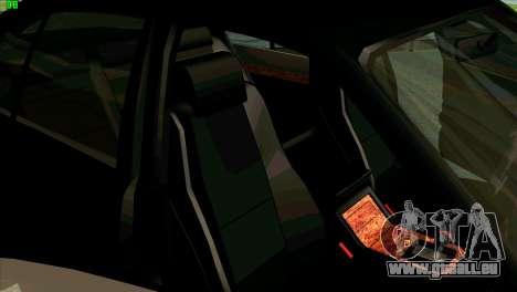 BMW 730i pour GTA San Andreas vue de dessus