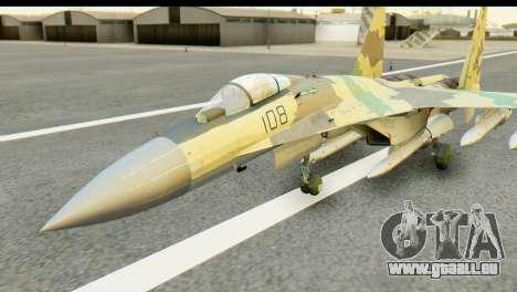 SU-35 Flanker-E ACAH pour GTA San Andreas