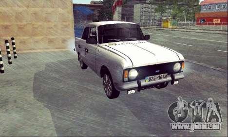 Moskvitch 412 Blanc Hirondelle pour GTA San Andreas vue de droite