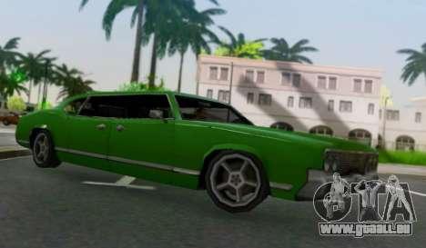 Sabre Limousine pour GTA San Andreas sur la vue arrière gauche