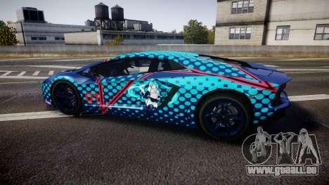 Lamborghini Aventador 2012 [EPM] Miku 3 pour GTA 4 est une gauche