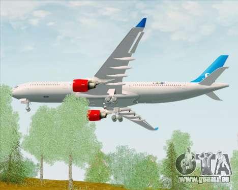 Airbus A330-300 Scandinavian Airlines pour GTA San Andreas vue de droite