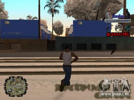 C-HUD Bomj Gang pour GTA San Andreas troisième écran