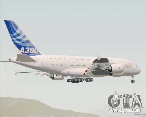 Airbus A380-800 F-WWDD Etihad Titles pour GTA San Andreas sur la vue arrière gauche