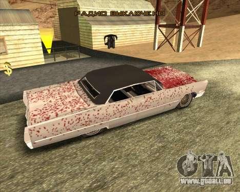 Cadillac DeVille Lowrider 1967 für GTA San Andreas zurück linke Ansicht