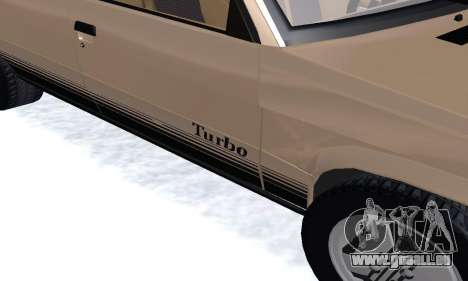 Renault 11 Turbo Phase I 1984 pour GTA San Andreas vue intérieure