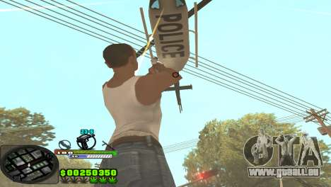 C-HUD Tasher pour GTA San Andreas deuxième écran