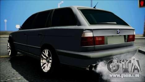 BMW M5 E34 Wagon pour GTA San Andreas sur la vue arrière gauche