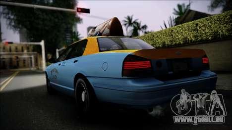 Taxi Vapid Stanier II from GTA 4 IVF pour GTA San Andreas laissé vue
