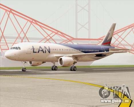 Airbus A320-200 LAN Argentina für GTA San Andreas linke Ansicht