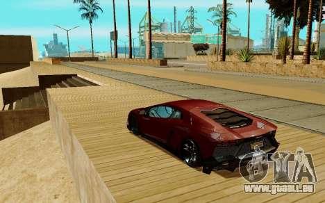 Lamborghini Aventador pour GTA San Andreas vue de droite