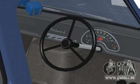 Reliant Supervan III für GTA San Andreas Motor