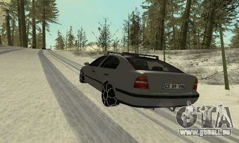 Skoda Octavia Winter Mode für GTA San Andreas Innen