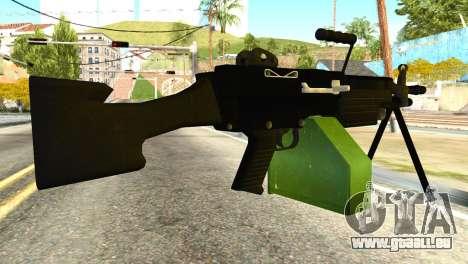 M249 Machine Gun für GTA San Andreas zweiten Screenshot