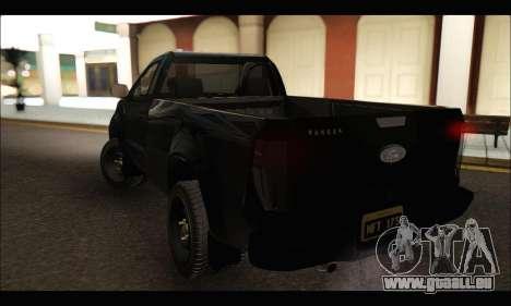 Ford Ranger Cabina Simple 2013 pour GTA San Andreas sur la vue arrière gauche