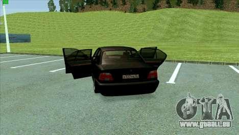 BMW 730i für GTA San Andreas Innen