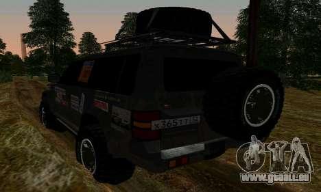 Mitsubishi Pajero Off-Road für GTA San Andreas zurück linke Ansicht