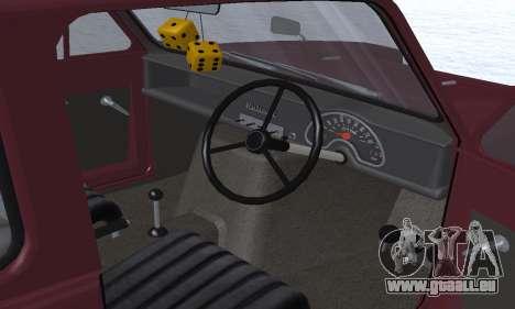 Reliant Regal Sedan pour GTA San Andreas moteur