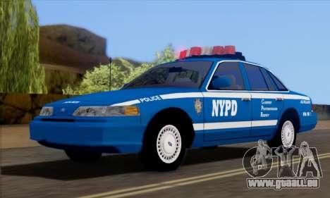 Ford Crown Victoria NYPD  Mazarine pour GTA San Andreas vue de droite