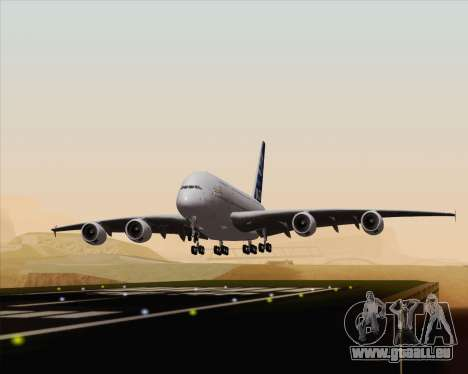 Airbus A380-800 F-WWDD Etihad Titles für GTA San Andreas Rückansicht