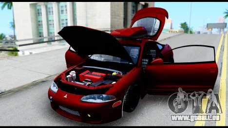 Mitsubishi Eclipce pour GTA San Andreas vue intérieure