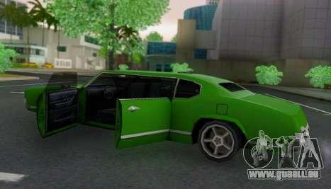 Sabre Limousine pour GTA San Andreas vue intérieure