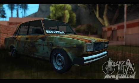 VAZ 2107 Rusty für GTA San Andreas rechten Ansicht