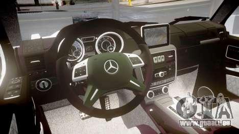 Mercedes-Benz G65 Brabus rims1 pour GTA 4 est une vue de l'intérieur