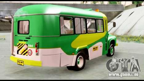 Ford Bus 1956 für GTA San Andreas zurück linke Ansicht
