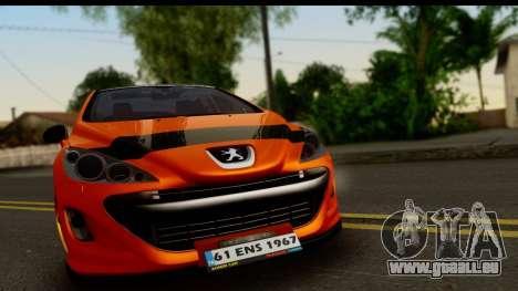 Peugeot 308 ENS Tuning für GTA San Andreas zurück linke Ansicht