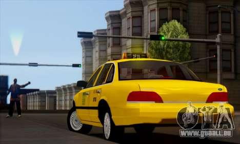 Ford Crown Victoria NY Taxi pour GTA San Andreas laissé vue