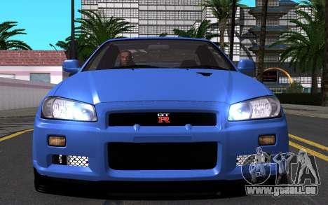 Nissan Skyline GT-R V Spec II 2002 für GTA San Andreas Unteransicht