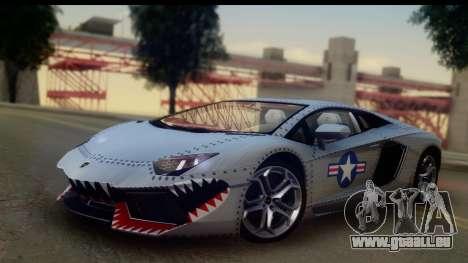 Lamborghini Aventador für GTA San Andreas Innenansicht