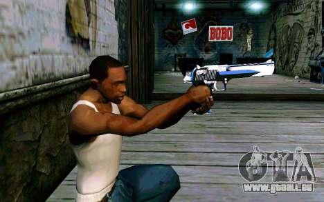 Blue Dragon Deagle für GTA San Andreas dritten Screenshot