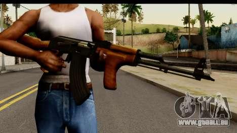 Modified AK47 pour GTA San Andreas troisième écran