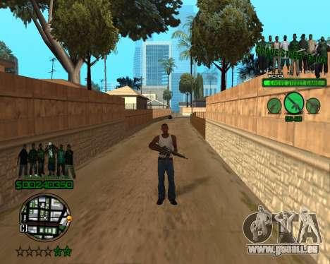 C-HUD Grove pour GTA San Andreas deuxième écran