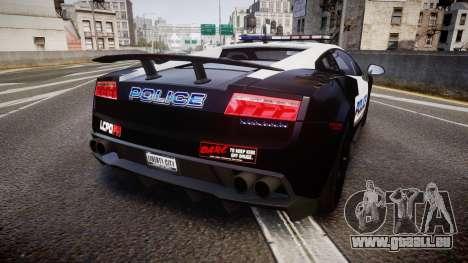 Lamborghini Gallardo LP570-4 LCPD [ELS] pour GTA 4 Vue arrière de la gauche