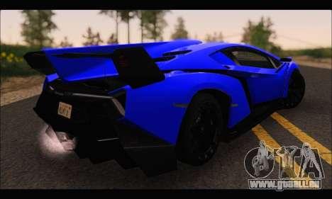 Lamborghini Veneno White-Black 2015 (ADD IVF) für GTA San Andreas zurück linke Ansicht